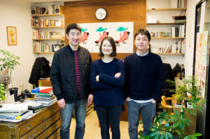 Daiwoong Kim, Eunhye Kim and Hyojoon Jo of Corners.